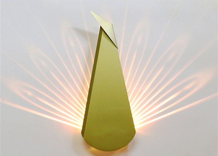 Staircase Aisle LED Peacock Wall Lamp , Fancy Wall Lights For Bedroom