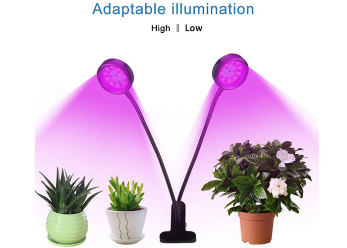 Energy Efficient Full Spectrum LED Grow Lights 16W 5 Mode Timing Remote Control